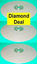 "Set of 3 DiamanTool 6"" Diamond Lapidary Disc 3000,1000 and 600 grit"
