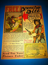 1930S BRONCHO BILL TIP TOP COMICS PICTURE AD GREAT SHAPE WITH COUPON
