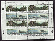 Finland 1995 MNH - Endangered animals - Joint issue Russia - sheetlet of 4 sets