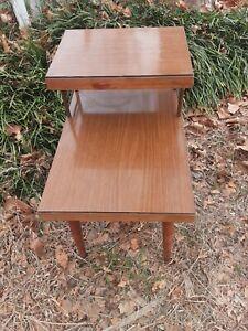 Vintage Step End Table
