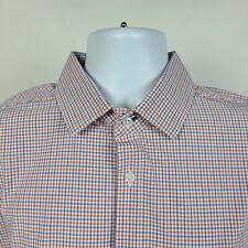 Mizzen Main Standard Fit Blue Red Check Mens Dress Button Shirt Size XL X-Large