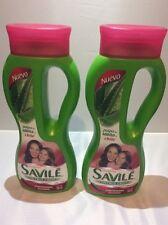 2 SHAMPOO SAVILE CONTROL CAIDA PULPA DE SABILA Y CHILE 2 PACK OF 750 ML  Hair