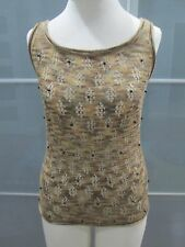 Anthropologie One Girl Who Pointelle & Bead Detail Tank Top Fits Size S