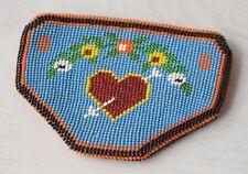 Antique Native North American Beaded Handmade Pouch Purse Wallet Beadwork Rare