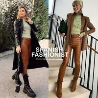 ZARA WOMAN NEW SS20 FAUX LEATHER LEGGINGS ALL SIZES REF: 8372/040