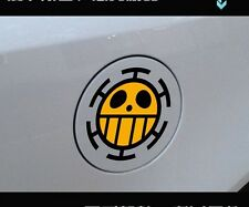 One Piece Trafalgar Law Car fuel Tank Sticker Vinyl Decal hot Anime Cartoon 12cm