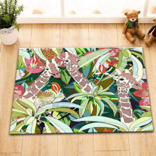 Giraffe Palm Bedroom Rug Door Mat Carpet Outdoor Doormat Door Anti Slip Kitchen