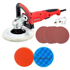 "Toolman 7"" Polishing Buffer Waxer Sander Kit W/wave sponge wheel Wool pad&sandpa"