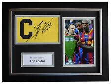 Eric Abidal Signed FRAMED Captains Armband A4 Photo Display Barcelona COA