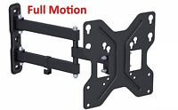 Full Motion Tilt & Swivel LED LCD TV Wall Mount Bracket 26 27 32 36 37 40 42 IN