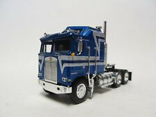 DCP / FIRST GEAR 1/64 SCALE KENWORTH K-100 AERODYNE  BLUE WITH GRAY STRIPES