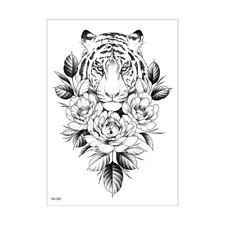 Tiger Tattoo Blumen Tattoo Fake Tattoo Th707