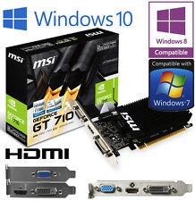 NVIDIA GeForce GT 610 1GB DDR3 PCIE HDMI DVI VGA LOW PROFILE Scheda Grafica