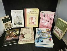 Vintage Lot Of 8 Alice In Wonderland Hardcover Books 1984- 2014 L. Carroll