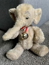 """Super Rare 7"""" Schuco Yes/No Elephant Mohair Glass Google Eyes All Intact Works!"""
