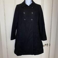 Gap Maternity womens coat size M black pea coat wool pregnancy business casual