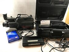 Vtg Ge Camcorder Cg-9910 Hard Case w/Accessories Manual Battery Charger