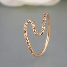 Ring 0,06ct Diamanten W-si 750/18k Roségold NEU Gr. 53
