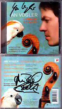 Jan Vogler & Reinhard Goebel SIGNED concerti brillanti CPE Bach M Haydn odio CD