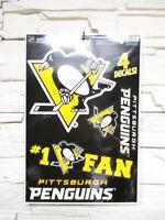 Pittsburgh Penguins 4 Aufkleber Decal Badges Set NHL Eishockey Neu
