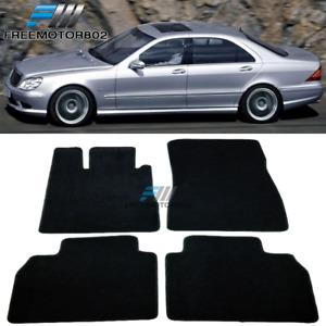 Fits 98-05 Mercedes S Class Front Rear Floor Mats Carpet Black Nylon 4PC Set
