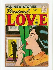 Personal Love Vol. 2 #9 Silver Age Romance Prize Comics 1959 VG/FN