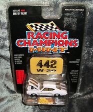RACING CHAMPIONS MINT,  WHITE 1969 OLDSMOBILE 442 NEW ON CARD
