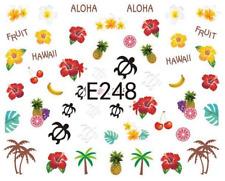 Nail Art Sticker Water Decals Transfers Aloha Carribean Tropical (E248)