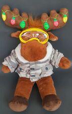 Build a Bear Reindeer Plush Christmas Stuffed Animal Antlers Light Hal Moose Toy