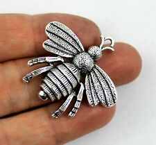 Antique Silver Tibetan Metal HONEY BEE Insect Charms Pendant Beads Crafts Cards