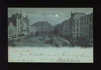 Germany Gruss aus BONN Marktplatz in moonlight 1898 u/b PPC