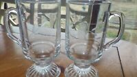 Princess House Heritage Irish Coffee Whiskey Glasses Hot Toddy glasses 2 10 oun