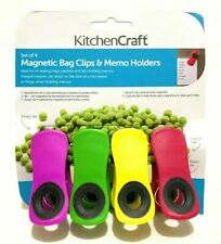 Kitchen Craft Magnetic Bag Clips & Memo Holder Clips Extra Strong 49282