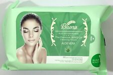 Bluna Make Up Remover Cleansing facial Wipes Face Towelettes Aloe Vera Extract