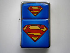 SUPERMAN MOVIE MAN OF STEEL STAR CIGARETTE LIGHTER SUPER & extra zippo flints