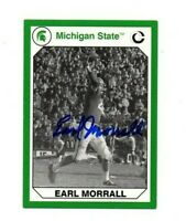 Earl Morrall Michigan State MSU Spartans football signed card Miami Dolphin DEC