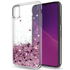 COVER Custodia Glitter Morbida Silicone GEL STRASS per Apple iPhone X ROSA