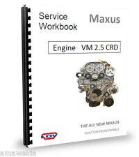 London Taxi moteur TX4 Workshop Manual for VM2.5CRD CDI