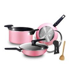 6pcs New Home Aluminum Non-Stick Cooking Pots w/Frying Pan Sauce Pan Sauce Pot