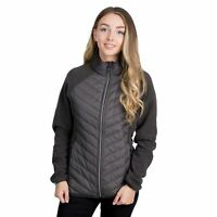 Trespass Underpinned Womens Fleece Jacket Quilted With Hood