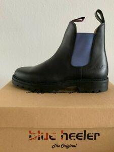 Blue Heeler Jackaroo, Boots, Stiefeletten, Chelseaboots, schwarz / sky, B-Ware