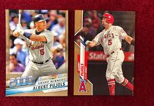 Albert Pujols 2020 Topps Series 2 Decades Best Gold /50 & Gold Base Cardinals
