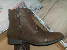 "WOMEN'S UNION BAY 7"" BOOT DUAL BUCKLE DUAL ZIP, LACE DESIRE U SZ 7 M NWB. ""LOOK"""