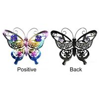 Butterflies Hanging Lovely Art Ornament Wrought Iron 3D Butterfly Decoration