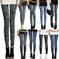 Women Stretch Skinny Denim Jeans Legging Slim Fit Pencil Pants Jeggings Trousers