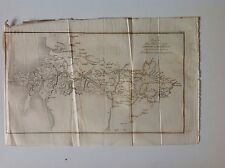 Mail Road From London To Holyhead c1829 Antique Map Very Rare Birmingham Barnet