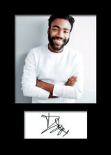 DONALD GLOVER #2 A5 Signed Mounted Photo Print - FREE DELIVERY