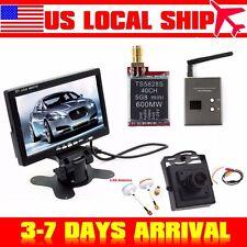 "7""TFT LCD Car Monitor+5.8G TS5828S FPV AV Transmitter+RC832 Receiver+Mini Camera"