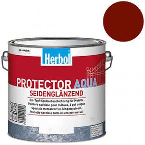 """Herbol Protector Aqua Metallschutzlack 2,5l """"Englischrot"""""""