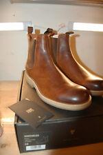 NU FRYE Mens Rainer Chelsea Italian full grain Leather 9 M Boots Cognac $358